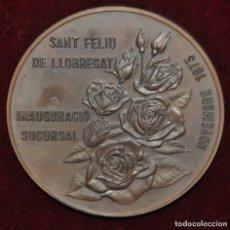 Medallas temáticas: MEDALLA INAGURACION SUCURSAL DEL BANCO DE SABADELL EN SANT FELIU DE LLOBREGAT. AÑO 1973. Lote 148094666