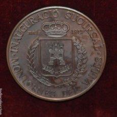 Medallas temáticas: MEDALLA INAGURACION SUCURSAL DEL BANCO DE SABADELL EN MONTORNES DEL VALLES. AÑO 1973. Lote 148096014
