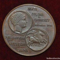 Medallas temáticas: MEDALLA DEL BANCO DE SABADELL A SANTA COLOMA GRAMENET. AÑO 1974. PUIG CASTELLAR NUCLI IBERIC LAIETA. Lote 148096714