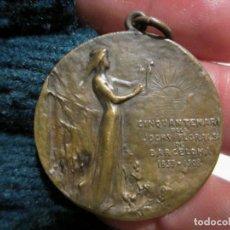 Medallas temáticas: MEDALLA BRONCE CINQUANTENARI JOCHS FLORALS JOCS FLORALS DE BARCELONA. 1859-1908. Lote 148202194