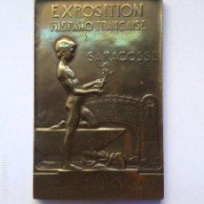 Medallas temáticas: MEDALLA. EXPOSICIÓN HISPANO FRANCESA. ZARAGOZA, 1908. Lote 148208838