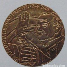 Medallas temáticas: MEDALLA EN MEMORIA DE JUAN PABLO II. Lote 148216242