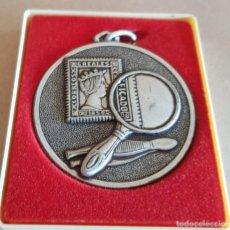 Medallas temáticas: MEDALLA EN METAL PLATEADO / II EXPO G.E. ASLAND - MONTCADA 1976 / ESTUCHE DE LA ÉPOCA. / 5.5 Ø. Lote 148288210