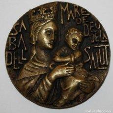 Medallas temáticas: MEDALLA DEL 25 ANIVERSARI DE LA CORONACIO MARE DE DEU DE LA SALUT SABADELL 1972. Lote 148313582