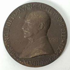 Medallas temáticas: MEDALLA DE BRONCE. INGENIERO JUAN BAUTISTA PIRELLI. VILANOVA I LA GELTRU. 1952.. Lote 148445290