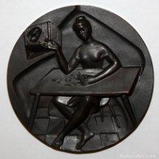 Medallas temáticas: MEDALLA DE LA SERIE OFICIOS TITULADA BORDADOS. ACUÑADA POR LA F.N.M.T.. Lote 148542590
