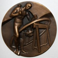 Medallas temáticas: MEDALLA DE LA SERIE OFICIOS TITULADA CARRETERIA. ACUÑADA POR LA F.N.M.T.. Lote 148557966