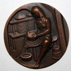 Medallas temáticas: MEDALLA DE LA SERIE OFICIOS TITULADA QUESERIA. ACUÑADA POR LA F.N.M.T.. Lote 148558110