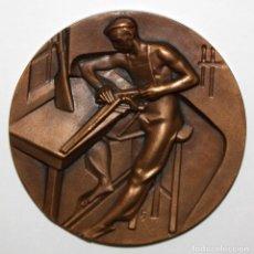 Medallas temáticas: MEDALLA DE LA SERIE OFICIOS TITULADA ARMERIA. ACUÑADA POR LA F.N.M.T.. Lote 148558218