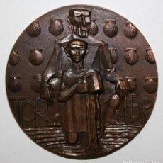 Medallas temáticas: MEDALLA COBRE (SERIE RIOS) RIO TORMES. ACUÑADA POR LA FNMT. 1985. Lote 148559274