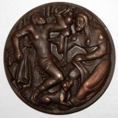 Medallas temáticas: MEDALLA EN BRONCE GREMI DE PARAIRES. GREMIO DE FABRICANTES 1559-1959. SABADELL. Lote 148562522