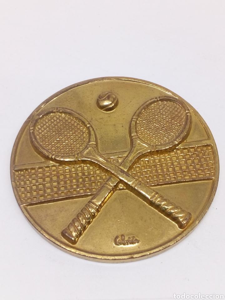 MEDALLA COBRE TENIS (Numismática - Medallería - Temática)