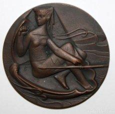 Medallas temáticas: MEDALLA EN BRONCE. CONSTRUCCIONES NAVALES MILITARES. Lote 148770910