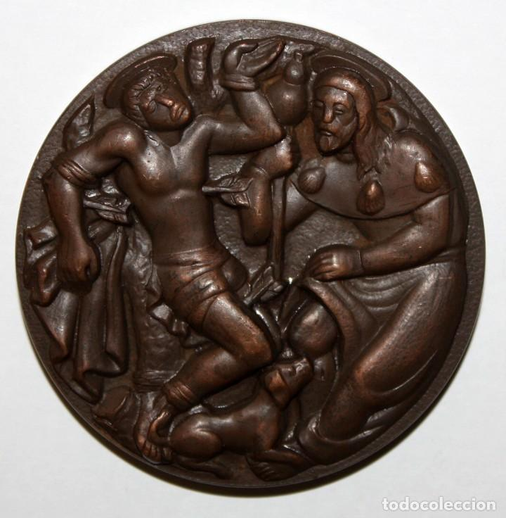 Medallas temáticas: MEDALLA EN BRONCE GREMI DE PARAIRES. GREMIO DE FABRICANTES 1559-1959. SABADELL - Foto 2 - 148771494