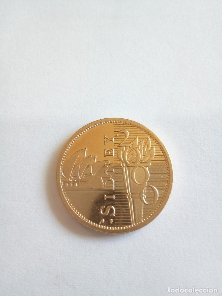 Medallas temáticas: MEDALLA DE SIDNEY 2000 BAÑADA EN ORO - Foto 2 - 148777806