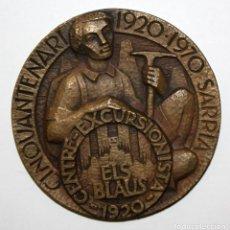 Medallas temáticas: MEDALLA DEL CENTRO EXCURSIONISTA ELS BLAUS (SARRIA) 50 ANIVERSARIO 1920-1970. Lote 148781670
