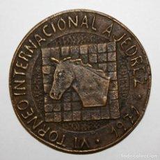 Medallas temáticas: RARA MEDALLA EN BRONCE DEL VI TORNEO INTERNACIONAL DE AJEDREZ. AÑO 1971. CLUB AJEDREZ OLOT. Lote 148799954