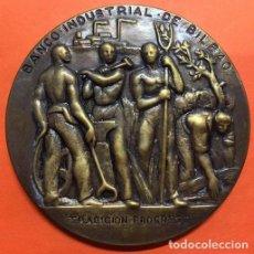 Medallas temáticas: MEDALLA CONMEMORATIVA DE LA FUNDACIÓN DEL BANCO INDUSTRIAL DE BILBAO. TRADICION PROGRESO. AÑO 1964. Lote 148812826