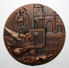 Medallas temáticas: MEDALLA V CONGRESO PANAMERICANO DE PRODUCTORES DE SEGUROS. FIRMADO CON INICIALES FJ. MADRID,AÑO 1974. Lote 149674626