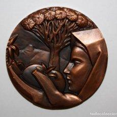 Medallas temáticas: MEDALLA DE BRONCE DE ISLAS CANARIAS. ARTES PLASTICAS. Lote 149676674