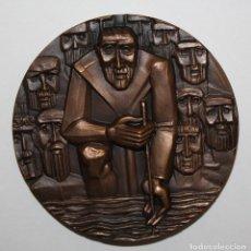 Medallas temáticas: MEDALLA COBRE (SERIE RIOS) RIO TURIA. ACUÑADA POR LA FNMT. AÑOS 80. Lote 149678026