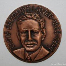 Medallas temáticas: MEDALLA DE LLUIS COMPANYS I JOVER (1883-1940) PRESIDENT DE LA GENERALITAT DE CATALUNYA CATALUÑA. Lote 149689094