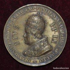 Medallas temáticas: MEDALLA PIO IX-MONUMENTO CONCILIO ECUMÉNICO-1869-C.MOSCETTI.. Lote 149699854