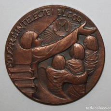 Medallas temáticas: MEDALLA DEL CENTENARIO DEL COL-LEGI JESUS MARIA JOSEP (1877 - 1977) EDUCAR L'INTEL·LECTE I EL COR. Lote 149724310
