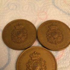 Medallas temáticas: LOTE DE 3 MEDALLAS III SEMANA NACIONAL DE NUMISMATICA 1980. Lote 150159404