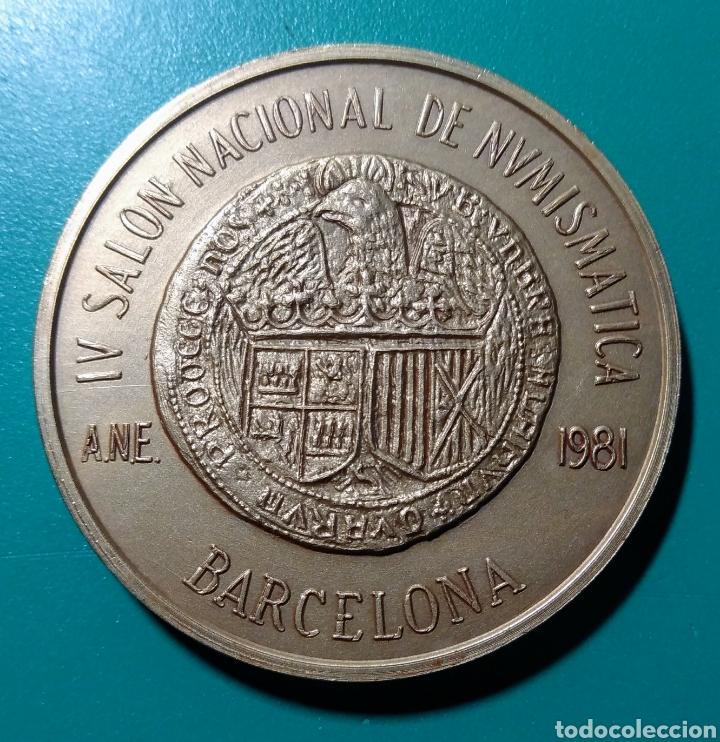 MEDALLA ANE. IV SALÓN NAC. NUMISMÁTICA 1981. (Numismática - Medallería - Temática)