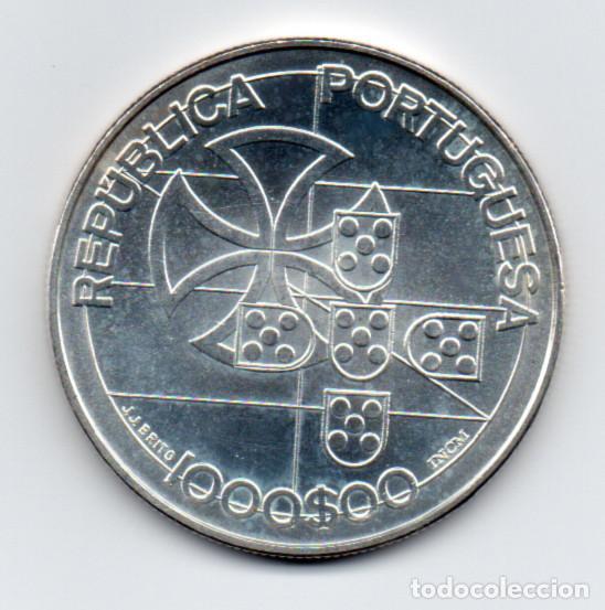 MONEDA - MEDALLA REPÚBLICA PORTUGUESA LIGA DOS COMBATENTES 1923 - 1998 - 1000$00 - 27 GRS. DE PLATA (Numismática - Medallería - Temática)