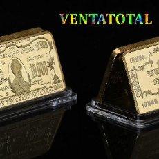 Medallas temáticas: ESTADOS UNIDOS LINGOTE 10.000 DOLARES ORO 24 KILATES 41 GRAMOS ( MORGAN CHASE )Nº7. Lote 151461586