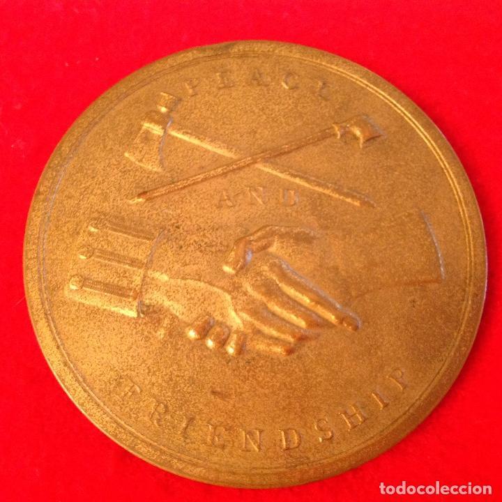 Medallas temáticas: Medalla a George Washington presidente de los Estados Unidos, 7,5 cm. diametro, Paz y amistad, - Foto 2 - 151531298