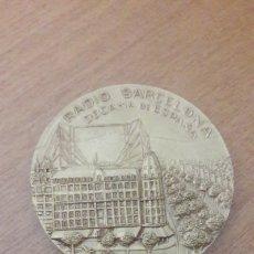 Medallas temáticas: MEDALLA 59 ANIVERSARIO RADIO DE BARCELONA 1924-1974. Lote 151604288