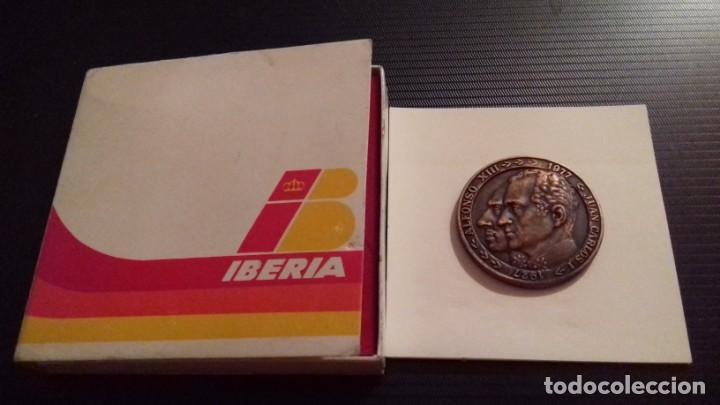 MEDALLA - MONEDA COMPAÑÍA IBERIA 50 ANIVERSARIO 1927 - 1977, 28 JUNIO 1978, EN SU ESTUCHE ORIGINAL (Numismática - Medallería - Temática)