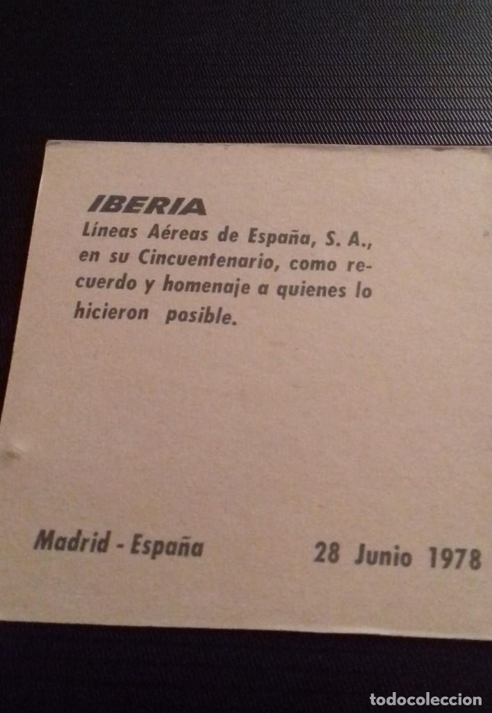 Medallas temáticas: Medalla - moneda Compañía IBERIA 50 Aniversario 1927 - 1977, 28 Junio 1978, en su estuche original - Foto 7 - 151662918