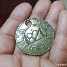 Medallas temáticas: FICHA MEDALLA PLACA IDENTIFICACION TRABAJADOR N.1820 FABRICA PLANTA PIRELLI SA,BRONCE..TAQUILLA. Lote 151697290