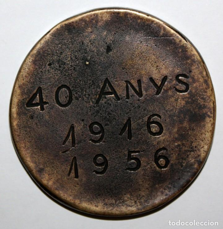 Medallas temáticas: MEDALLA EN BRONCE DEL 40 ANIVERSARIO DEL CLUB NATACIO SABADELL 1916 - 1956 - Foto 2 - 151890058