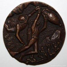 Medallas temáticas: MEDALLA EN BRONCE AL SOCI FUNDADOR CRIS SABADELL. AÑO 1958. Lote 151900718