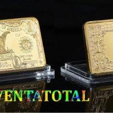 Medallas temáticas: ESTADOS UNIDOS LINGOTE 1 DOLAR ORO DE 24 KILATES 40 GRAMOS( AGUILA )Nº2. Lote 152208074