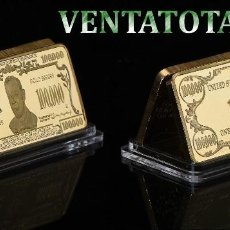 Medallas temáticas: ESTADOS UNIDOS LINGOTE 100 MIL $ ORO DE 24 KILATES 34 GR ( WILSON PRESIDENTE DE 1913 A 1921 ) Nº13. Lote 199083232