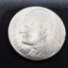 Medallas temáticas: LA MEDALLA DE JUAN PABLO II (PLATA) Y 5 MEDALLAS SOUVENIRS VATICANO 'I PAPI NELLA STORIA 1939-1985. Lote 152817942