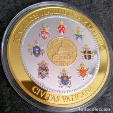 Medallas temáticas: INTERESANTE GRAN MEDALLA XXL CONMEMORATIVA AL PAPA JUAN PABLO I FUE EL PAPA MAS BREVE DE LA HISTORIA. Lote 153439918