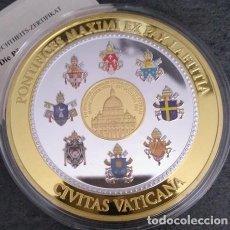Medallas temáticas: INTERESANTE GRAN MEDALLA XXL CONMEMORATIVA AL PAPA PABLO VI PONTIFICE MAXIMO CIUDAD DEL VATICANO. Lote 153529066