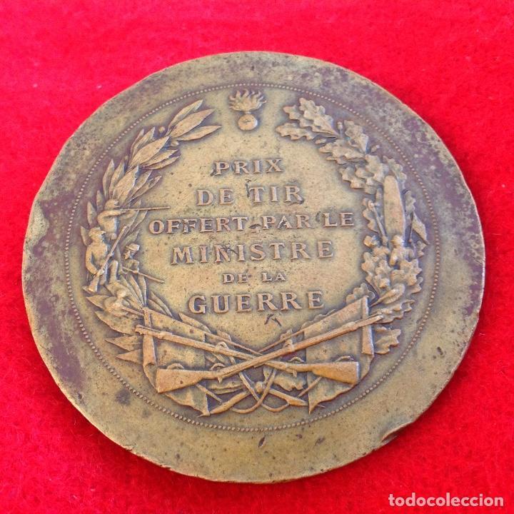 Medallas temáticas: Medalla de bronce art nouveau de Daniel Dupuis 1849-1899, 5 cm. de diametro, premio minist. Guerra - Foto 2 - 154402954