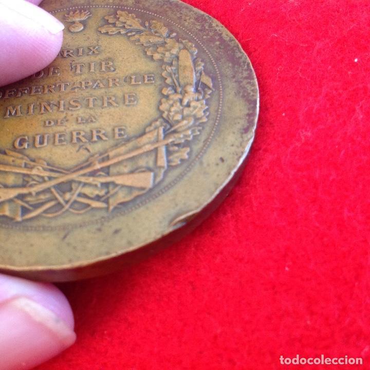 Medallas temáticas: Medalla de bronce art nouveau de Daniel Dupuis 1849-1899, 5 cm. de diametro, premio minist. Guerra - Foto 3 - 154402954