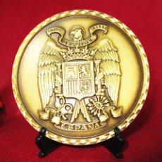 Medallas temáticas: GRAN MONEDA MEDALLA ESCUDO DE ESPAÑA FRANQUISTA BRONCE MACIZO UNA GRANDE Y LIBRE . Lote 155512094