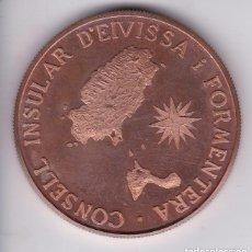 Medaglie tematiches: MEDALLA DEL CONSELL INSULAR D'EIVISSA I FORMENTERA EN SU ESTUCHE ORIGINAL (IBIZA-BALEARES). Lote 155810614
