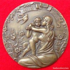 Medallas temáticas: GRAN MEDALLA DEL DÍA DE LA MADRE, DÍA DA MAE, DE BRONCE DE 10 CM., FIRMADA ESCULTOR: CABRAL ANTUNES. Lote 156188534