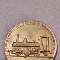 Medallas temáticas: X- BONITA MEDALLA 50 MM. PRIMER CENTENARIO 1963 FERROCARRIL DE SARRIA A BARCELONA. Lote 156510728
